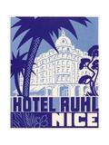 Hotel Ruhl Nice Luggage Label Giclee Print
