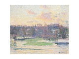 Flood at Sunset Giclee Print by Camille Pissarro