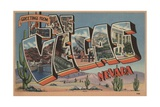 Greetings from Las Vegas Nevada Postcard Giclee Print