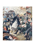 General Antoly Stessel Injured Fall of Port Arthur (Oct 1904) Giclee Print