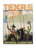 Texas Centennial Celebrations Poster Giclee Print