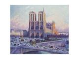 Notre-Dame De Paris, Vue Du Quai Saint-Michel Giclee Print by Maximilien Luce