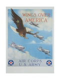 Wings over America Giclee Print by Tom Woodbury