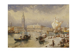 The Doge's Palace, Venice, from the Steps of San Giorgio Maggiore Giclee Print by Myles Birket Foster