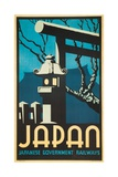 Japan Japanese Government Railways Poster Giclee Print by P. Irwin Brown