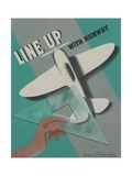 Line Up with Runway Safety Poster Giclee Print