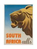South Africa Calls Poster Giclée-tryk af Gayle Ullman