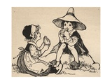 Illustration of Hansel and Gretel Giclee Print by A.L. Bowley