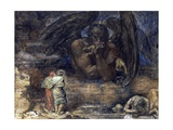 Dante and Virgil Encounter Lucifer in Hell Giclee Print by Henry John Stock