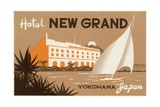 Hotel New Grand Yokohama Luggage Label Giclee Print