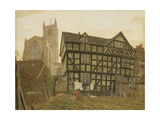 Church and Ancient Uninhabited House at Ludlow Giclee Print by George Price Boyce