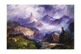 Index Peak, Yellowstone National Park Giclee Print by Thomas Moran