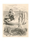 Illustration of King Arthur Receiving Excalibur Giclee Print by Daniel Maclise