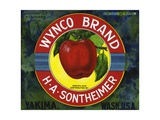Wynco Brand Fruit Crate Label Giclee Print