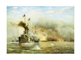 Battleships at War Giclee Print by James Gale Tyler