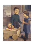 Three Children Giclee Print by Georg Schrimpf
