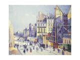 La Rue Reaumur Giclee Print by Maximilien Luce