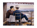 On the Terrace (Self-Portrait) Giclee Print by Georg Schrimpf
