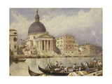 The Church of San Simone and San Guida (San Simeone Piccolo), Venice: Arrival of a Train Giclee Print by Myles Birket Foster