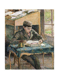 Portrait of Rodo Reading Giclee Print by Camille Pissarro
