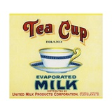 Tea Cup Brand Evaporated Milk Product Label Giclee Print