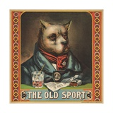 The Old Sport Tobacco Crate Label Giclee Print