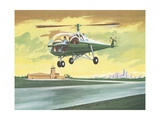 Illustration of Helicopter Giclee Print