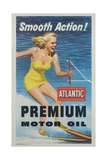 Smooth Action! Atlantic Premium Motor Oil Giclee Print
