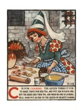 C Is for Cooking Illustration Giclee Print