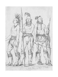 Three Osage Warriors Giclee Print by George Catlin