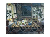 An Interior with a Still Life; the Parlour at Sandalstrand Giclee Print by Nikolai Astrup