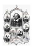 Shakespeare's Portraits Book Illustration Giclee Print