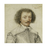 Portrait of Pierre Le Hayer Duperron, Bust-Length, Inside a Traced Border Giclee Print by Daniel Dumonstier