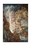 Pandemonium: the Bridge over Chaos Giclee Print by Joseph Michael Gandy