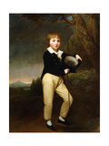 Portrait of Master Baines Giclee Print by George Romney
