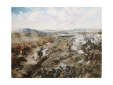 The Battle of the 5th of May Giclee Print by Felipe Mendoza