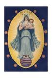 Celestial Virgin with Sun God in Her Arm Giclee Print by J. Augustus Knapp