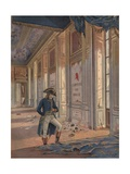Illustration of Napoleon Lamenting the Destruction of the Tuileries Palace Giclee Print by Jacques Onfroy de Breville