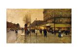 A Parisian Street Scene Giclee Print by Eugene Galien-Laloue