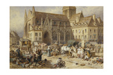 At Gervaise, Falaise: Market Day Giclee Print by Myles Birket Foster