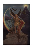 Odin, the Scandinavian Father God Giclee Print by J. Augustus Knapp