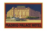Madrid Palace Hotel Luggage Label Giclee Print