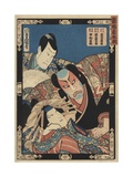 Three Kabuki Actors Giclee Print by Ugatawa Toyokuni III