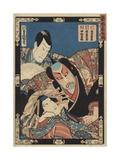Three Kabuki Actors Gicléetryck av Ugatawa Toyokuni III