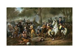 Illustration of Battle of Monongahela Giclee Print