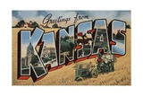 Greetings from Kansas Postcard Giclee Print