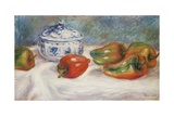 Still Life with a Blue Sugar Bowl and Peppers Giclee Print by Pierre-Auguste Renoir