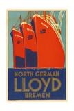 North German Lloyd Bremen Giclee Print