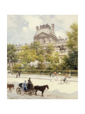 La Place Du Louvre Giclee Print by Louis Beraud