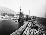 English Ironclad Warships at Gibraltar Photographic Print